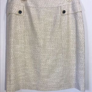 Perfect lined skirt with Gold buttons NWOT